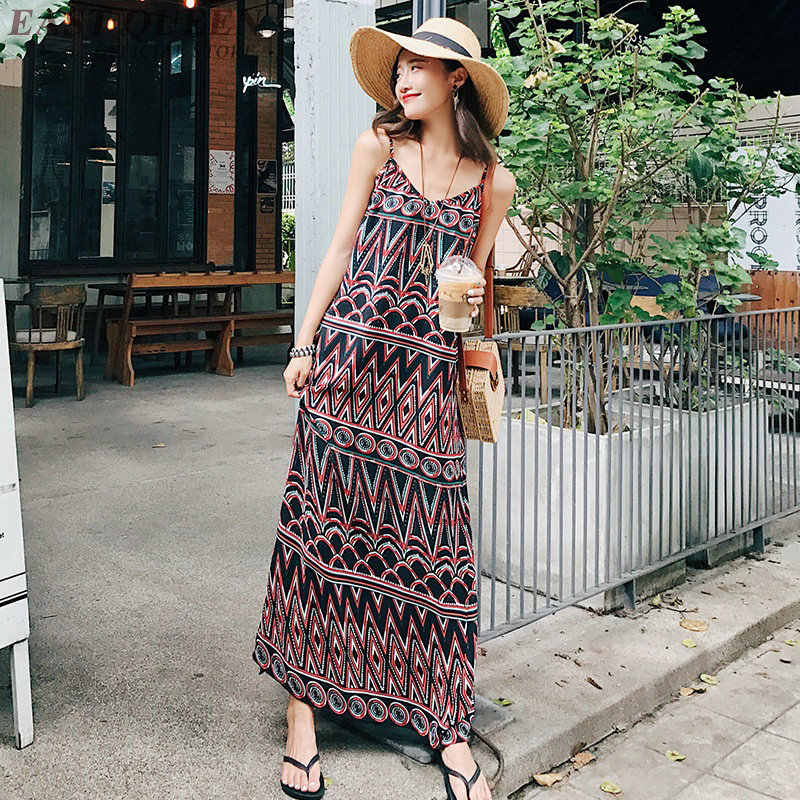 6b971e6e39 Mexican hippie dress women Boho chic ethnic style dress clothing bohemian  holiday beach female camisole sexy