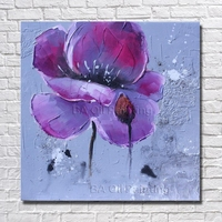 Big Size Hand Painted Cheap Wall Canvas Flower Oil Paintings Modern Decoration Wall Art Living Room