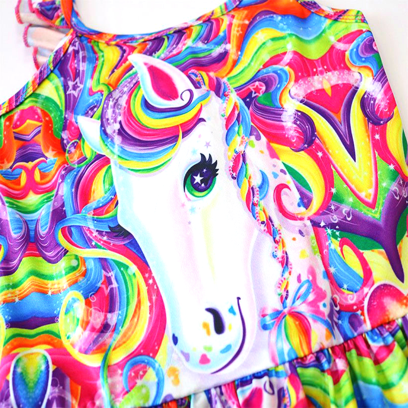 2019 New Toddler Unicorn children swimsuit for girl one piece baby girls unicorn swimsuit kid bathing suit swimming costume 0327 in Dresses from Mother Kids