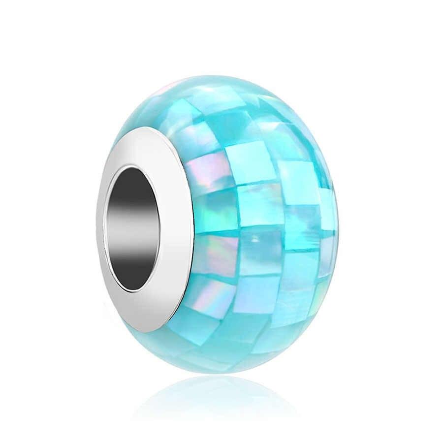 2018 nouvelle livraison gratuite 925 en verre de murano coloré arc-en-ciel bijoux à bricoler soi-même perle S'adapte Européenne Pandora bracelets porte-bonheur mix075