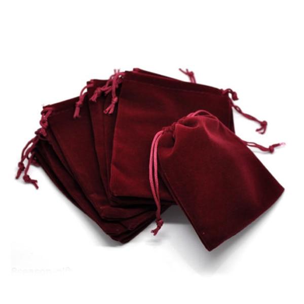 Snny 50 подарок темно-красный вельвет pouchs Jewelry Сумки с Drawstring 12x10 см