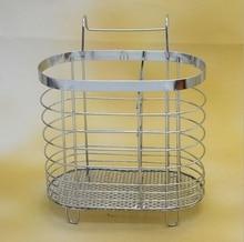New Fashion Stainless Steel Tableware Basket Drain Water Type Kitchenware Storage Holder Free Shipping
