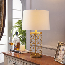 Simple Warm Golden Table Lamps Retro Creative American Style Lighting For Bedroom Foyer Hotel High 5570cm