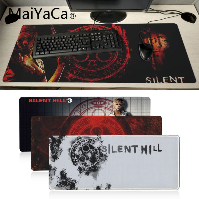 MaiYaCa Non Slip PC silent hill gamer play mats Mousepad Large Thicken Comfy Waterproof Gaming Rubber Mouse Pad image