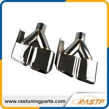 RASTP-304 Из Нержавеющей Стали Высокого Качества Глушитель Совет Выхлопной Трубы Для ML GL W166 X166 LS-CR8087B