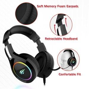 Image 3 - HAVIT Gaming Headset PC USB 3,5mm Wired XBOX / PS4 auriculares con Driver de 50MM, sonido envolvente y micrófono HD para ordenador portátil