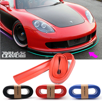 PVC Rubber 2.5meter Universal Car Protective Trim Molding Front Bumper Lip Protector Side Door Edge Strip Spoiler