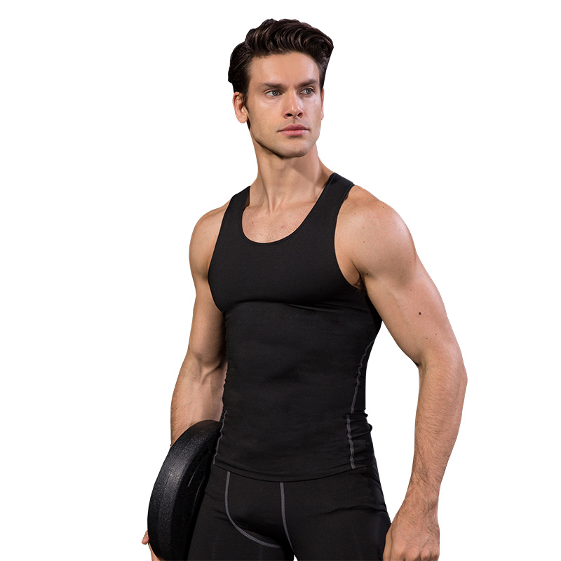 YD 2017 Logo Custom Quick Dry Running Vest Training Sleeveless Workout Tank Top Fitness Tights Men Sport Suit Gym Man's T-Shirt