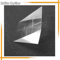 50x50x50mm K9 Optical Glass Right Angle Prism For Optical Experiment Optical Instruments Rainbow Principle Research
