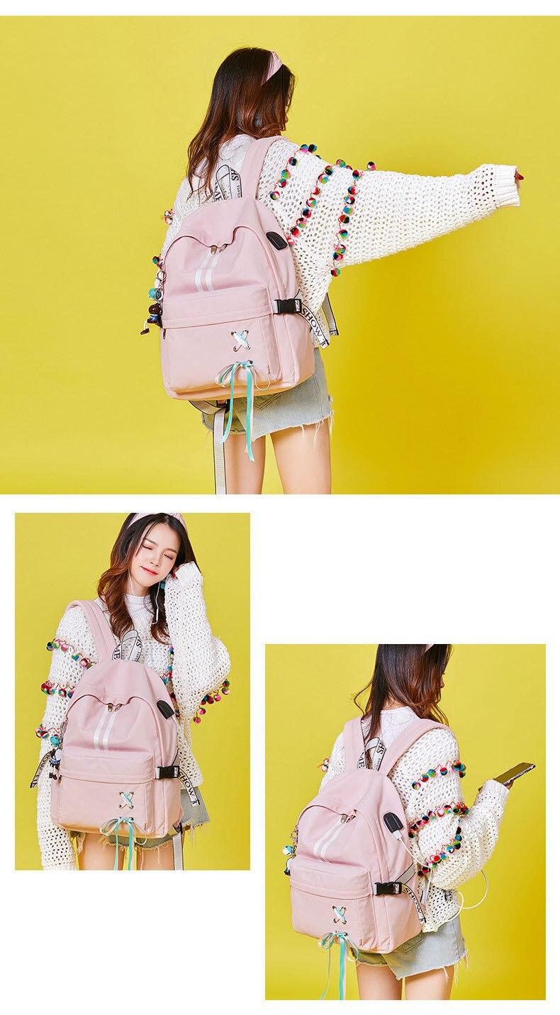 HTB1ZpQLaIrrK1RjSspaq6AREXXar Tourya Fashion Anti Theft Reflective Waterproof Women Backpack USB Charge School Bags For Girls Travel Laptop Rucksack Bookbags