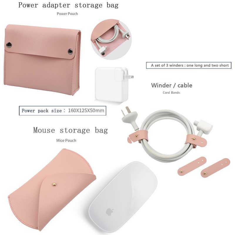 5 In 1 Kulit Mewah Lengan Laptop Casing untuk MacBook Pro Retina 11 12 Baru 13 15 Notebook Case untuk xiaomi Air 12.5 13.3 15.6 Cover