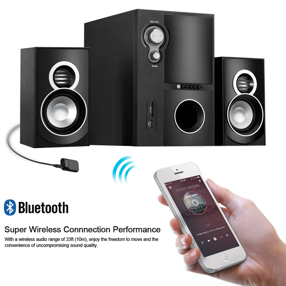 Docooler Bluetooth Receiver Hands-free Car Kits 3.5mm Stereo Bluetooth Music Receiver