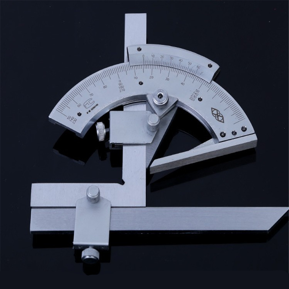 Universal transportador 0-320 grados precisión ángulo Regla de medición herramientas