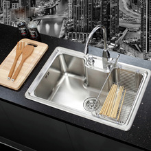 цена на SUS 304 Stainless Steel Nickel Brushed Undermount Kitchen Sink Set With Solid Brass Pull out Faucet Wooden Chopboard Spoon fork