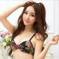 "Japanese ""T"" Beauty Back Push Up Bra Small Breast Girls Women Lady Sexy Bras Thick Padded Flower Lepard Embroidery Soutien Gorge"