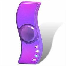 LED USB Charging Cigarette Lighter Tri Hand Spinner Fidget EDC Anti Stress Toys Adults Drop Shopping