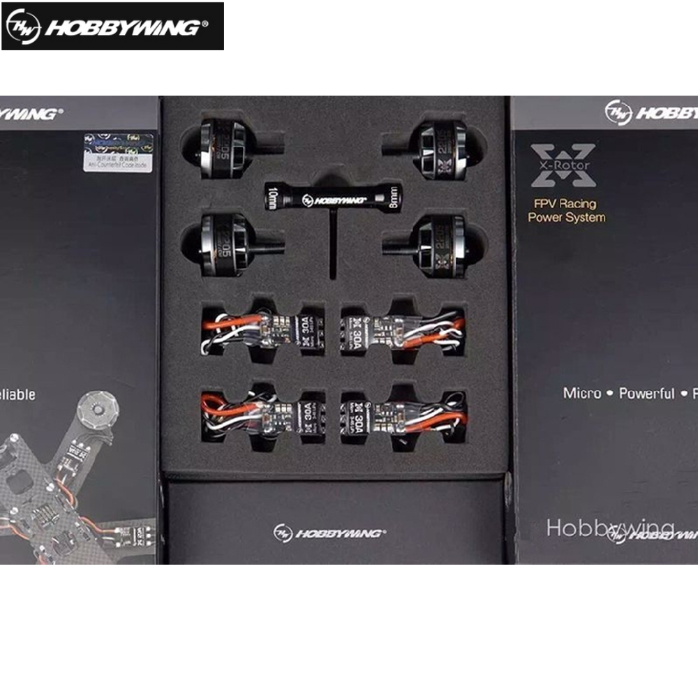 4pcs Hobbywing XRotor Micro 30A BLHeli-S Mini ESC+ 4pcs 2205 2300KV 2600KV CW CCW Brushless Motor combo For FPV Quadcopter lhi fpv 4x mt2206 2300kv cw ccw fpv brushless motor 2 4s 4 pcs racerstar rs20a lite 20a blheli s bb1 2 4s brushless esc