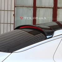 ABS tail wing roof visor rear black spoiler for kia K5 optima 2011 2015 with additional brake light