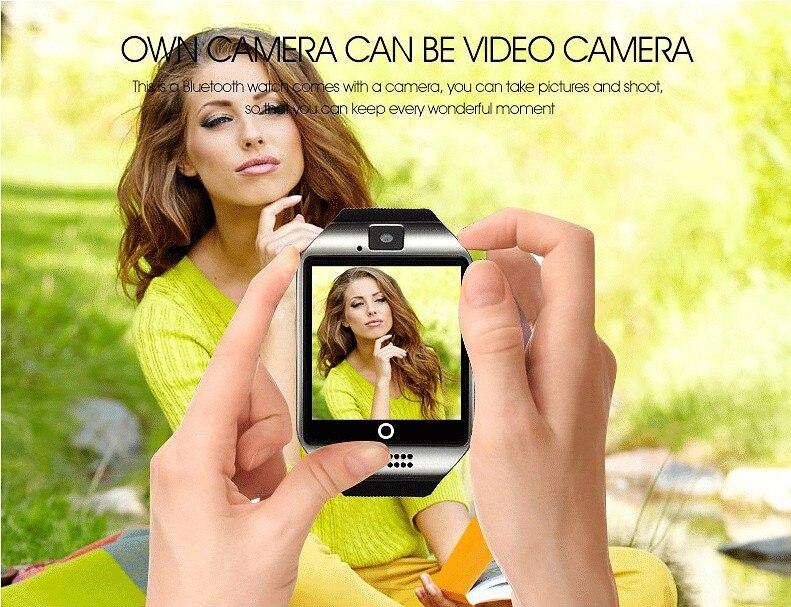 Q18 Fashion Bluetooth Smart Watch Աջակցություն SIM - Կանացի ժամացույցներ - Լուսանկար 5