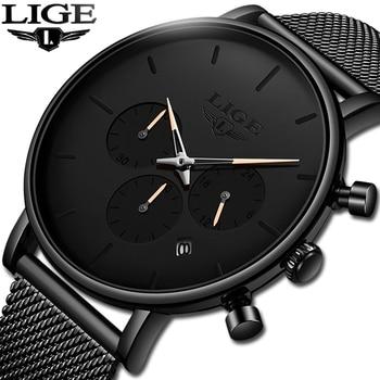d168ab55d741 En este momento tienda oficial superior de la marca de lujo de nueva moda  para hombre relojes 2019 impermeable fecha reloj de pulsera de reloj de  cuarzo ...