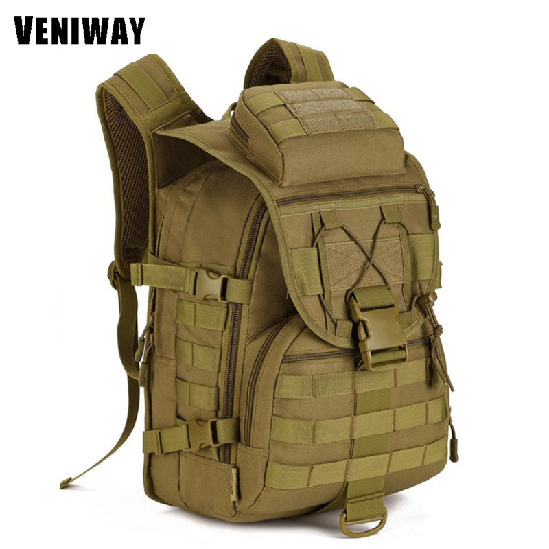 VENIWAY 40L Waterproof Molle Backpacks Military 3P Tactics Backpack Assault Nylon Travel Bag for Men Women Climb Travel BagVENIWAY 40L Waterproof Molle Backpacks Military 3P Tactics Backpack Assault Nylon Travel Bag for Men Women Climb Travel Bag