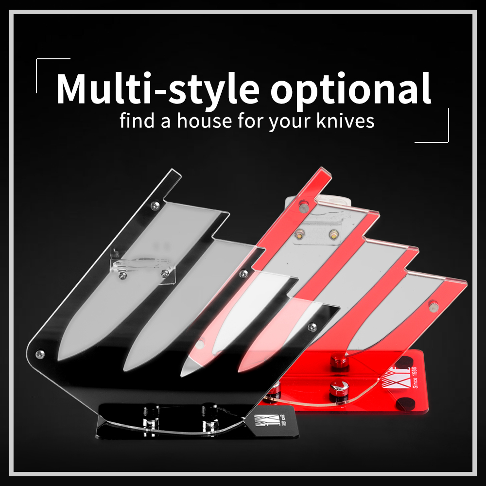 XYj Red Black Knife Holders Kitchen Knife Block Storage Stand Holder Plastic Kitchen Knife Stand For Ceramic Cooking Knife Tools