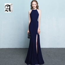 Ameision New evening dress 2019 long toast clothing bride female host banquet slim fishtail dresses