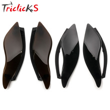 Triclicks Adjustable Fairing Air Deflectors ABS Plastic Deflector Motorcycle Side Wings For Harley Touring 2014 2015 2016