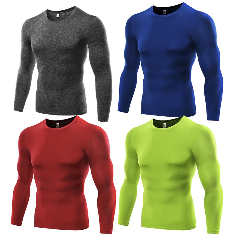 Men Quick Dry Under Base Layer Compression Sport Fitness Top Long Sleeve T-Shirt
