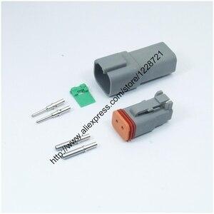 Набор из 2 контактных разъемов для штырьков и твердого клемм, 1 комплект, DT06-2S, DT04-2P