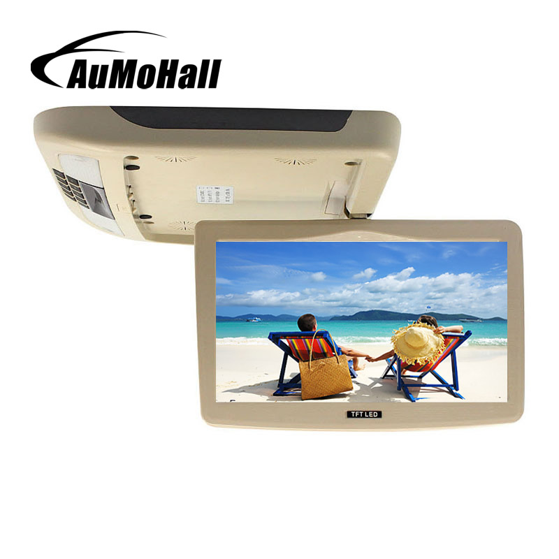 AuMoHall 10 Inch Car Roof Mount Monitor TFT LCD Flip Down 12V Monitors