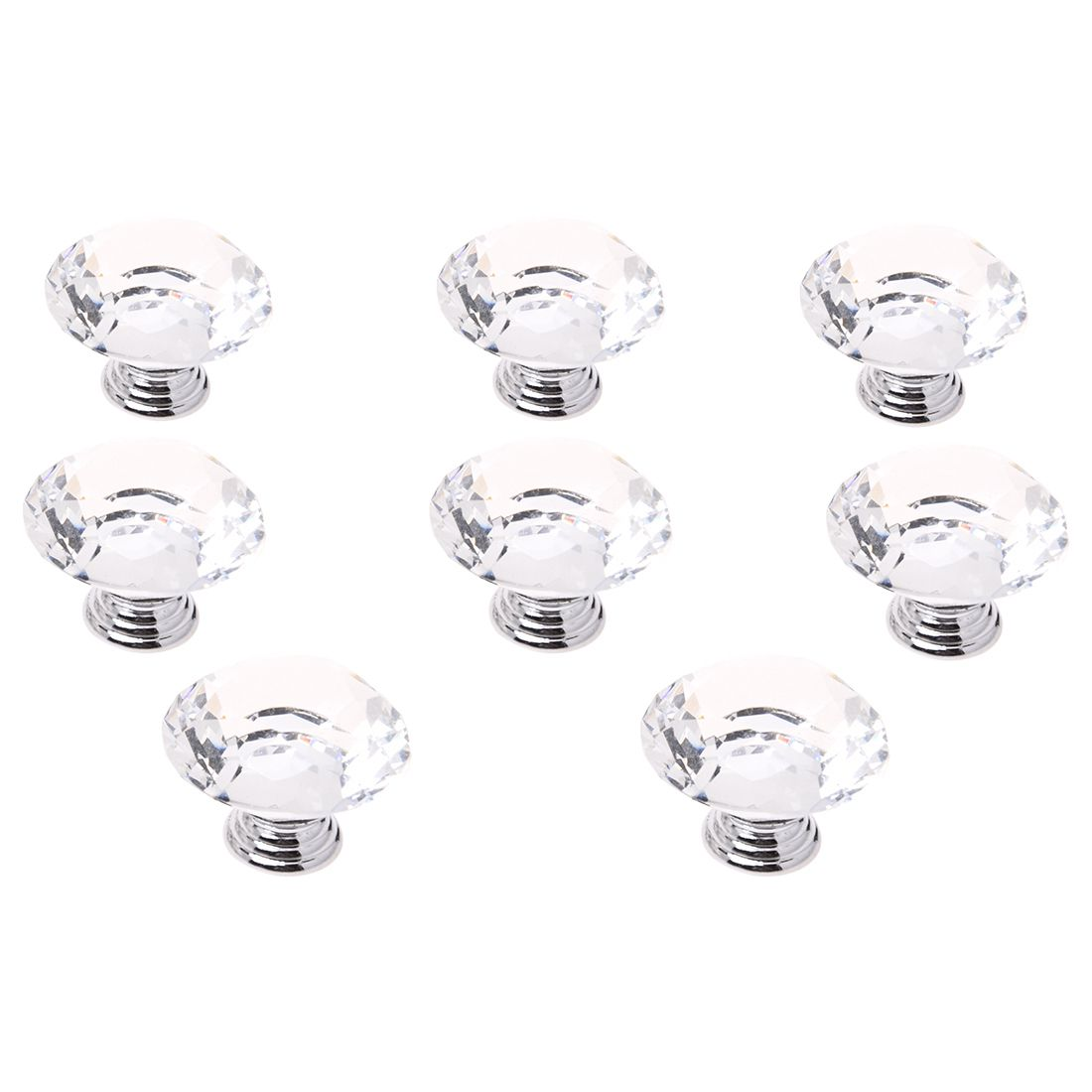 EWS-50MM 8 pcs Knob Crystal for wall cabinet drawer wardrobe cabinets kitchen furniture Damage brightness to any mobile, TransEWS-50MM 8 pcs Knob Crystal for wall cabinet drawer wardrobe cabinets kitchen furniture Damage brightness to any mobile, Trans