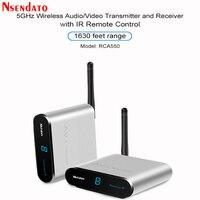 Measy AV550 5.8G Wireless AV Transmitter Receiver Audio Video SD TV AV Signal Sender receiver With IR Romote 500M / 1630FT