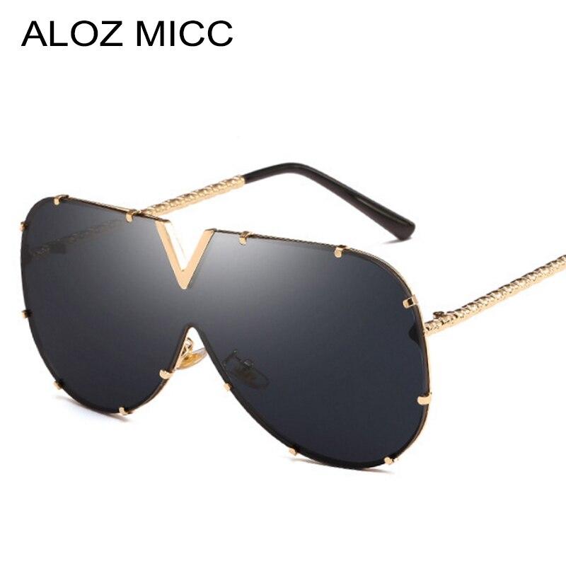 Fashion Oversize Men Pilot Sunglasses Women Brand Designer Metal Frame Unisex Multicolor Gradient Glasses Lady Shades UV400 Q463