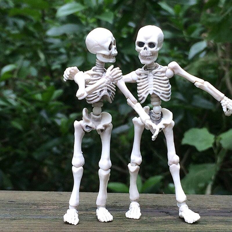 Movable Mr. Bones Skeleton Human Model Skull Full Body Mini Figure Toy Halloween