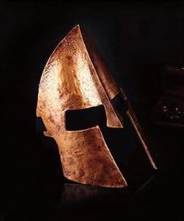 Коллекционная тема для Хэллоуина из фильма 300 Спарта, Золотая маска для шлема, пластиковая игрушка