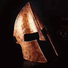 Halloween Movie Theme Collector's Edition of the 300 Sparta Golden Helmet Mask Plastic Toy