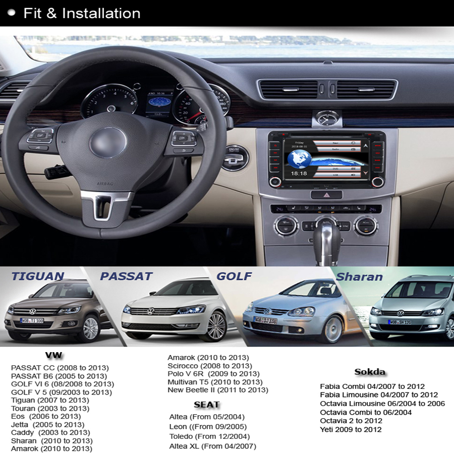 A sure dvd player navigation gps radio for vw passat b6 t5 seat a sure dvd player navigation gps radio for vw passat b6 t5 seat jetta polo sharan touran transporter tiguan golf 5 6 mk6 caddy in car multimedia player from fandeluxe Gallery