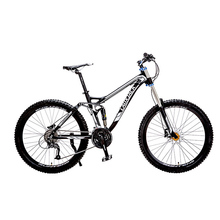 "LAUXJACK Mountain Bike Full Suspension Aluminum Frame 24/27 Speed Hydraulic/Mechanic Brake 26"" Wheel"