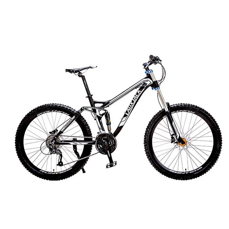 """Frugal Lauxjack Bicicleta De Montaña SuspensiÓn Completa Marco De Aluminio 24/27 Velocidad Hidráulica/freno Mecánico 26 """"rueda 2019 úLtimo Estilo De Venta En LíNea 50%"""