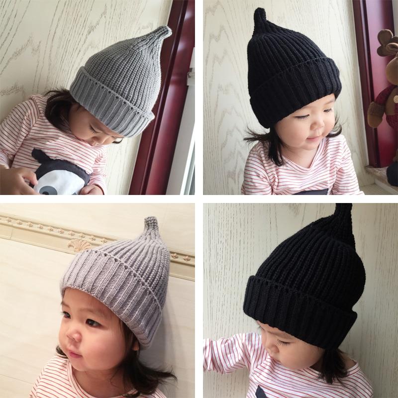 Lányok fiúk kalapok nők szülő-gyermek kalap gyerekek téli sapkák motorháztető Enfant gyerekeknek Baby Muts KF080