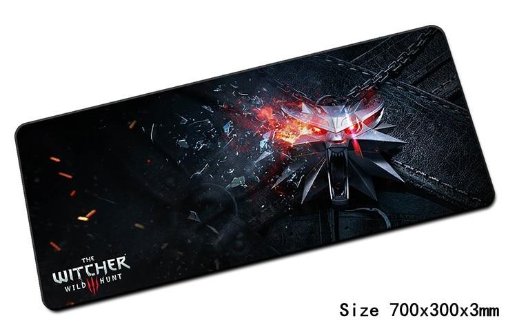 Grande witcher mouse pad 700x300x3mm pad per mouse del computer notbook padmouse mousepad HD stampa di gioco gamer per computer portatile del mouse mat