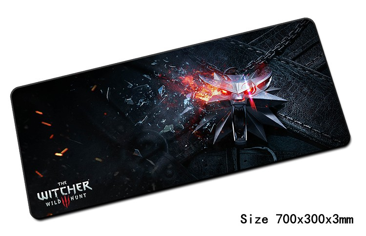 large witcher mouse pad 700x300x3mm pad to mouse notbook computer mousepad HD print gaming padmouse gamer to laptop mouse mat