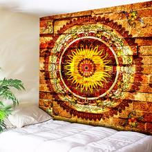 Tapisserie Murale Bohemia Mandala Wall Tapestry Beach Towel Golden Brick Carpets Hanging Nordic Vintage Home Decor