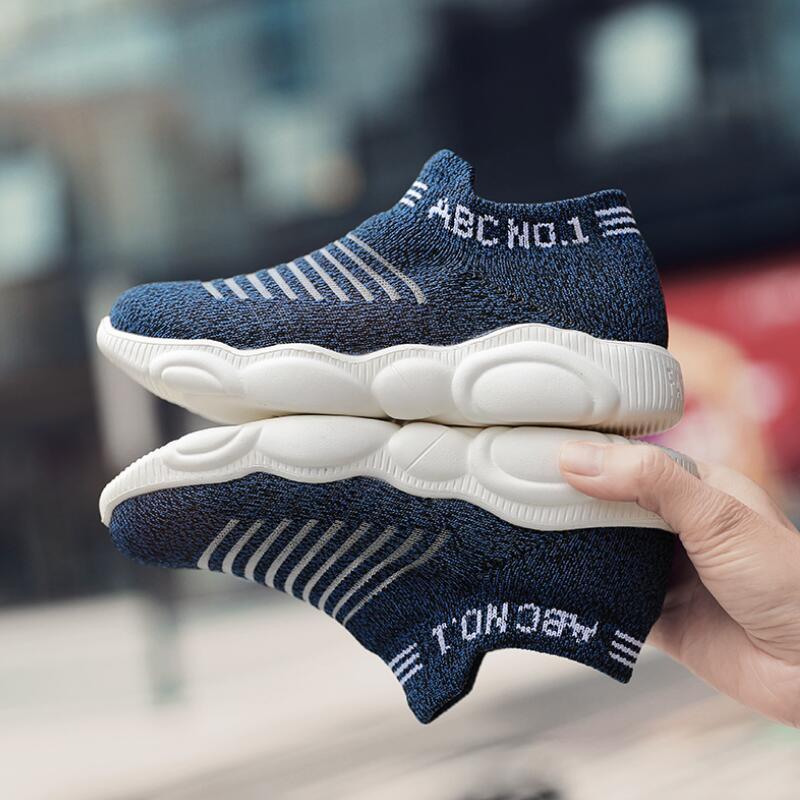CLOWN DUCKS Breathable Knit Children Shoes Fashion Magic Post School Casual Kids Shoes Soft Non-slip Boys Girls Sneakers Size
