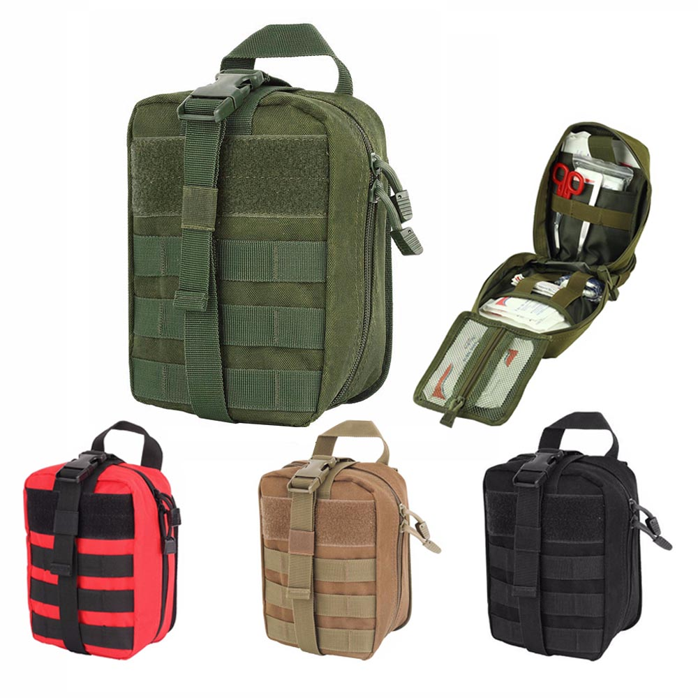 Tactical Medical First Aid Pouch Detachable Molle Emergency Survival Bag Outdoor Travel Camping Hunting First Aid Kit Patch Bag