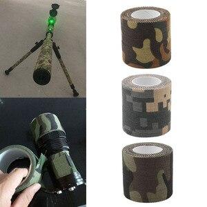 Image 2 - 5 センチメートル x 4.5 メートルステルステープ陸軍迷彩屋外狩猟撮影ツールサイクリングテープ防水ラップ丈夫な迷彩テープ