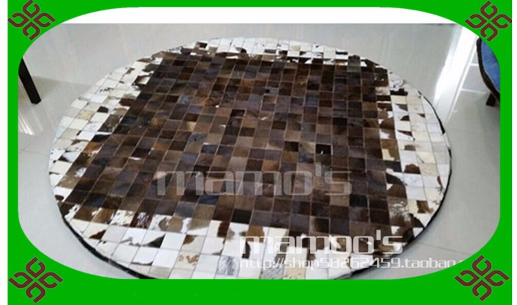 Fashionable art carpet 100% natural genuine cowhide leather rubber backed kitchen rugsFashionable art carpet 100% natural genuine cowhide leather rubber backed kitchen rugs