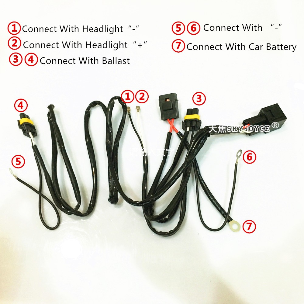 us $6 99 dc12v 40a hid xenon kit h7 75w hid relay harness h1 h11 h7 d2h 100w hid power cable relay control wire harness motorcycle hid in wire from Wire Harness Assembly