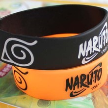 fdc48c6d1415 ¡Nueva llegada! 10 piezas Anime japonés Naruto pulseras de silicona para  hombre mujer joyería regalo accesorios de moda  362